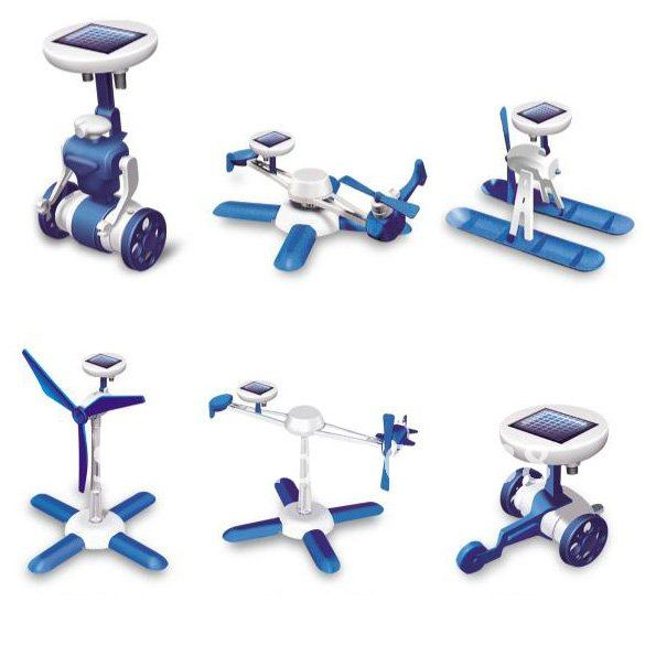 6 in 1 Educational Solar Toy Kit Blue ** Free Shipping **