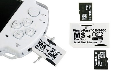 Dual Micro SD to Sony MS Pro Adapter