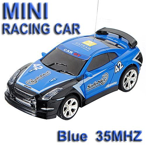 35MHz Blue Micro RC Radio Control Racing Car **Free Shipping**